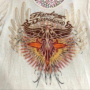 Harley-Davidson Tops - Harley Davidson Rhinestone Embroidered Top